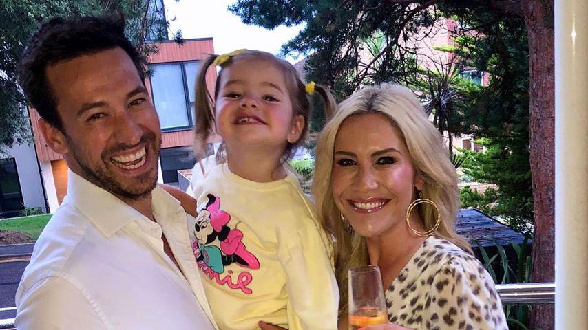 Heidi Range mit Mann und Tochter