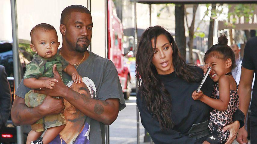 Saint West, Kanye West, Kim Kardashian und North West in New York 2016