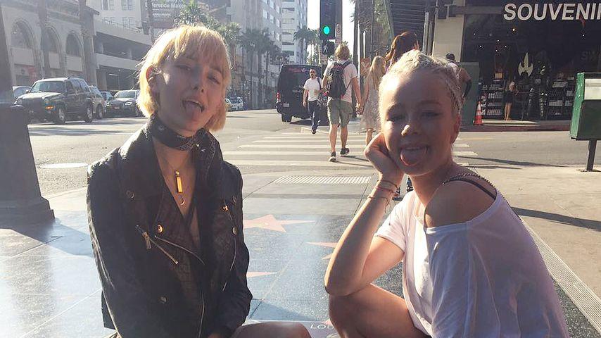 Sally und Zoe auf dem Hollywood Boulevard