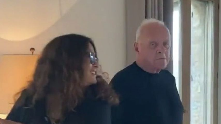 Salma Hayek und Anthony Hopkins, April 2021