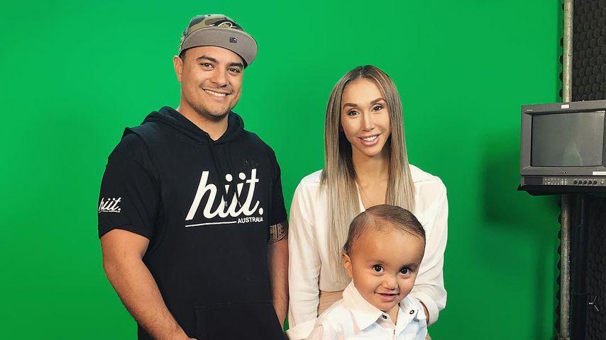 Sam Duncan und Chontel Duncan mit ihrem Sohn Jeremiah