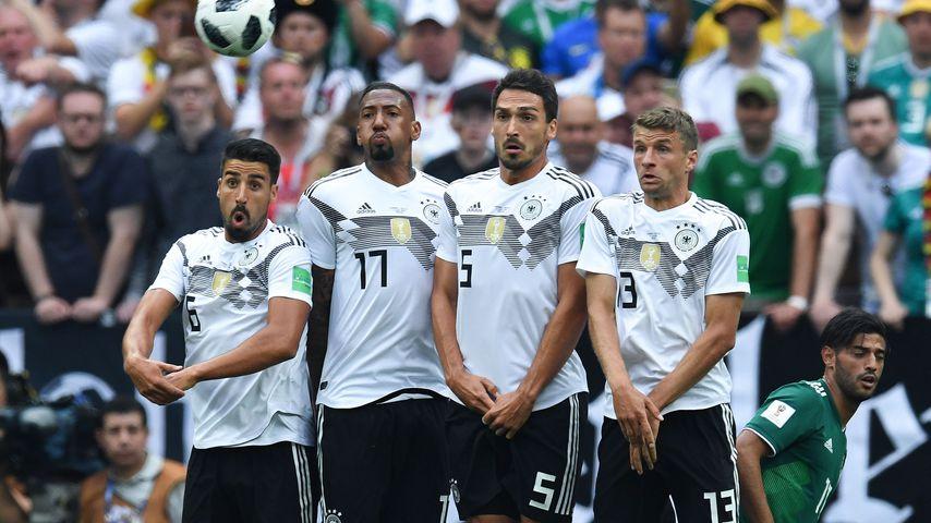 Sami Khedira, Jérôme Boateng, Mats Hummels und Thomas Müller beim WM-Spiel Deutschland gegen Mexiko