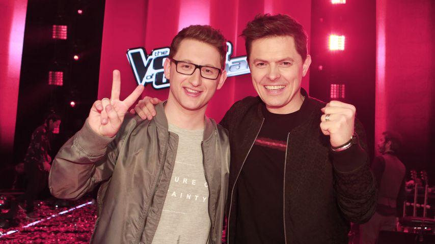 """Samuel Rösch und Michael Patrick Kelly beim """"The Voice of Germany""""-Finale 2018"""