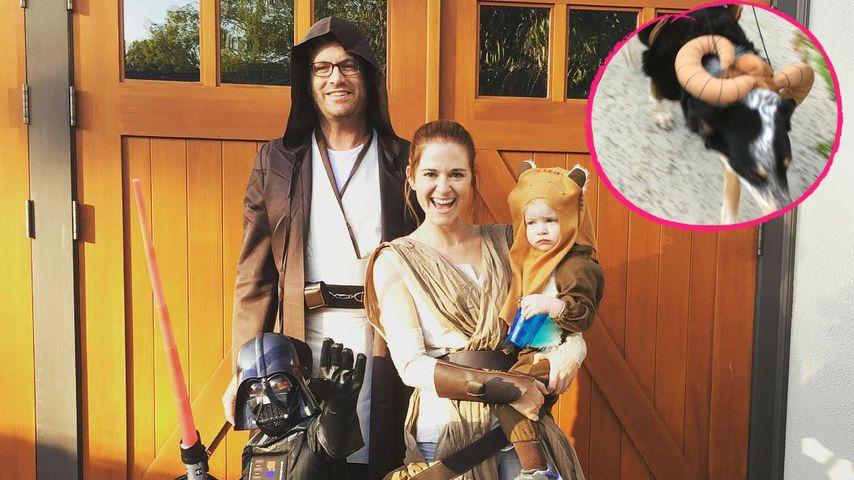 """Sarah Drews und ihre Familie, verkleidet als """"Star Wars""""-Charaktere"""