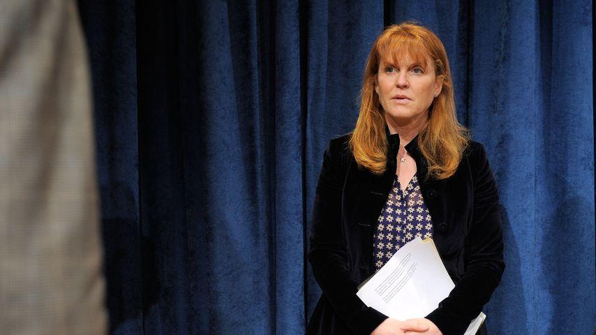 Sarah Ferguson bei einer UN-Pressekonferenz, 2010