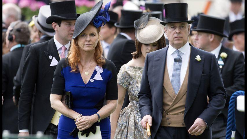 Sarah Ferguson und Prinz Andrew beim Pferderennen in Ascot im Jahr 2015