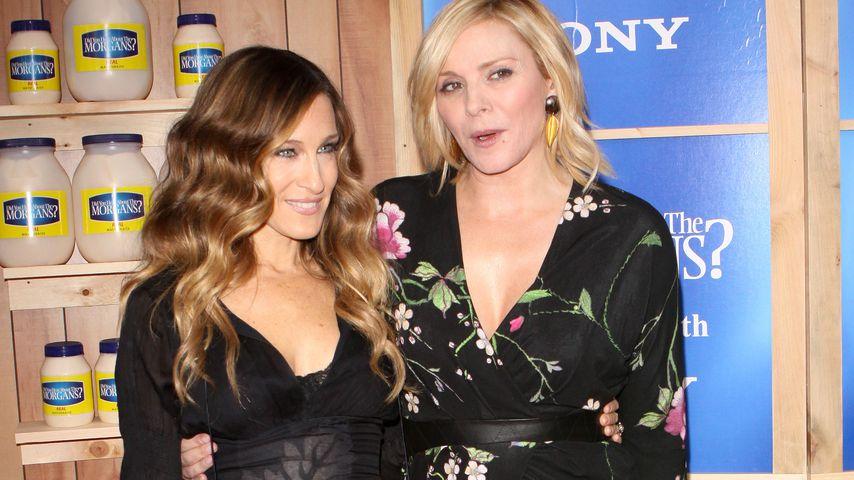 Sarah Jessica Parker und Kim Cattrall bei einer Premiere in New York