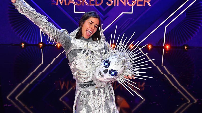 """Sarah Lombardi als Skelett im """"The Masked Singer""""-Finale 2020"""