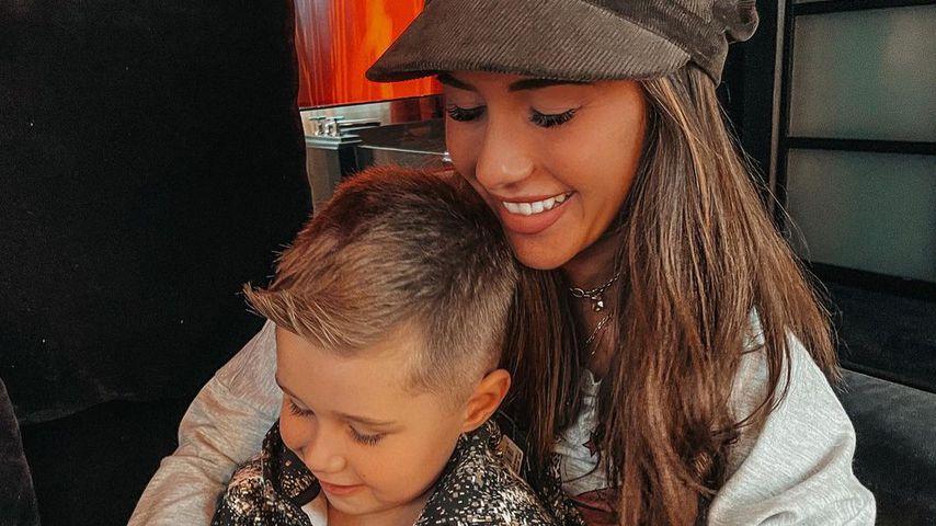 Sarah Engels und ihr Sohn Alessio