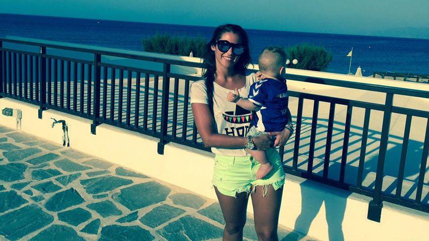 Sarah Lombardi mit Söhnchen Alessio im Urlaub