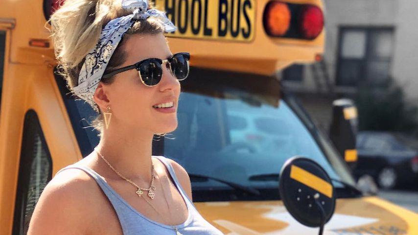 30. Woche: Sarah Nowak kugelrund und happy in New York!