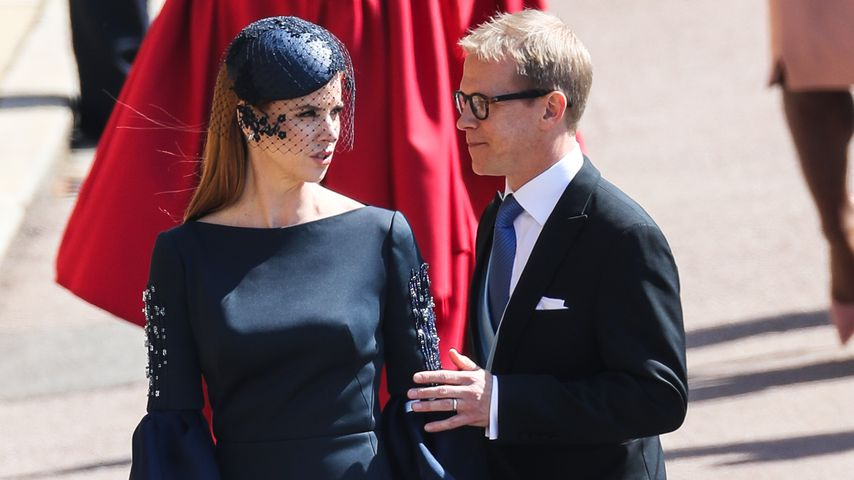 Sarah Rafferty mit Santtu Seppala am Schloss Windsor