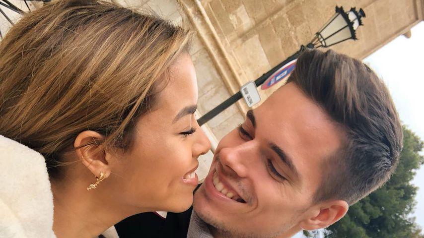 Sarah Richmond und Julian Weigl im März 2019