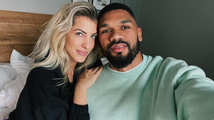 Sarah Harrison mit ihrem Mann Dominic