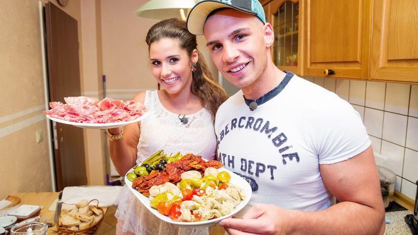 Mit Babybauch: Schwangere Sarah & Pietro beim Promi-Dinner