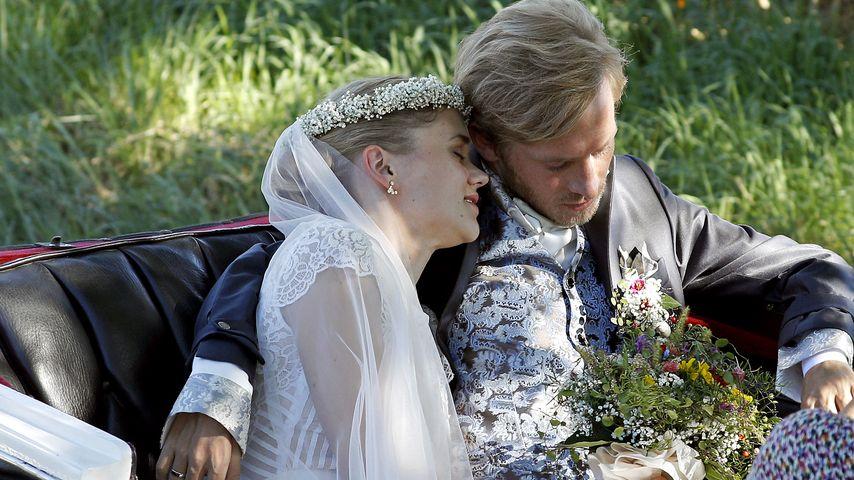 Sarah Elena Timpe und Samuel Koch bei ihrer Hochzeit 2016
