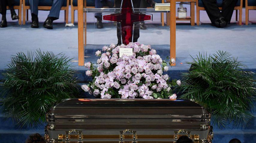 Sarg der verstorbenen Aretha Franklin