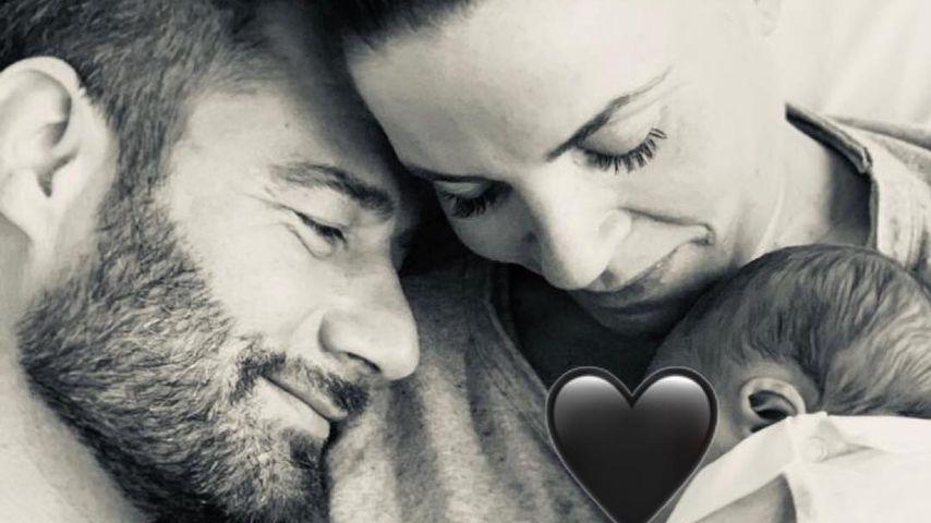 Sasha mit Ehefrau Julia und ihrem Baby