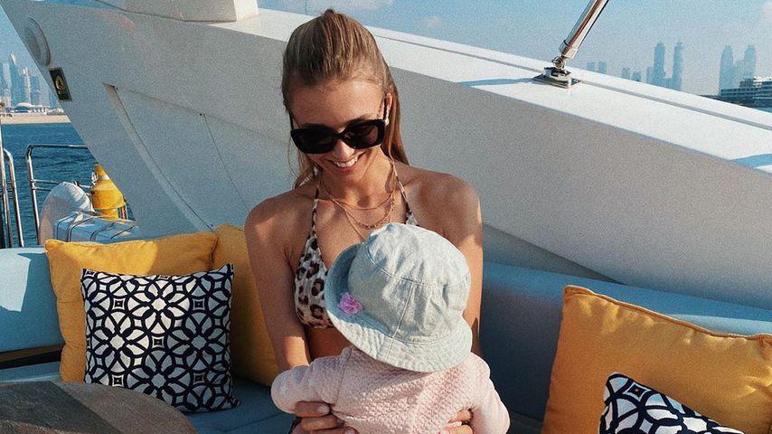 Meilenstein: Neu-Mama Scarlett Gartmann verreist mit Baby