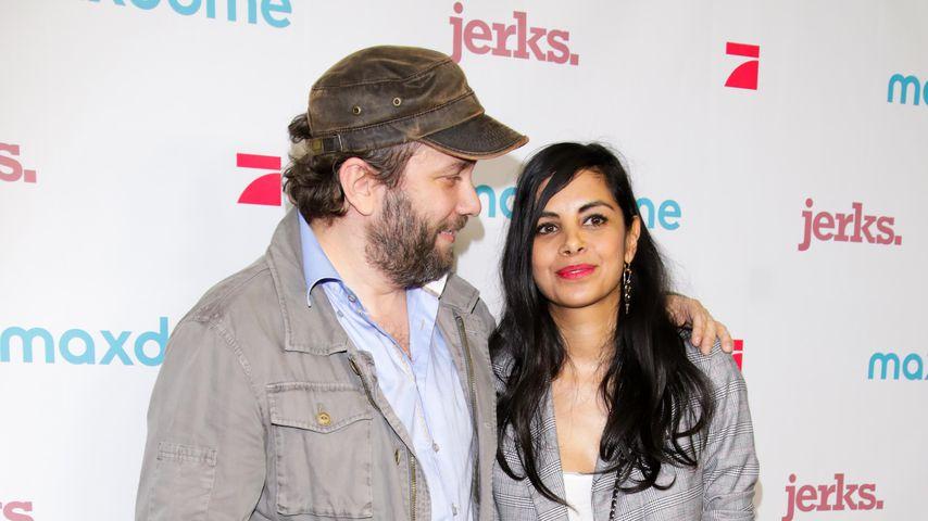 Schauspieler Christian Ulmen mit seiner Frau Collien Ulmen-Fernandes