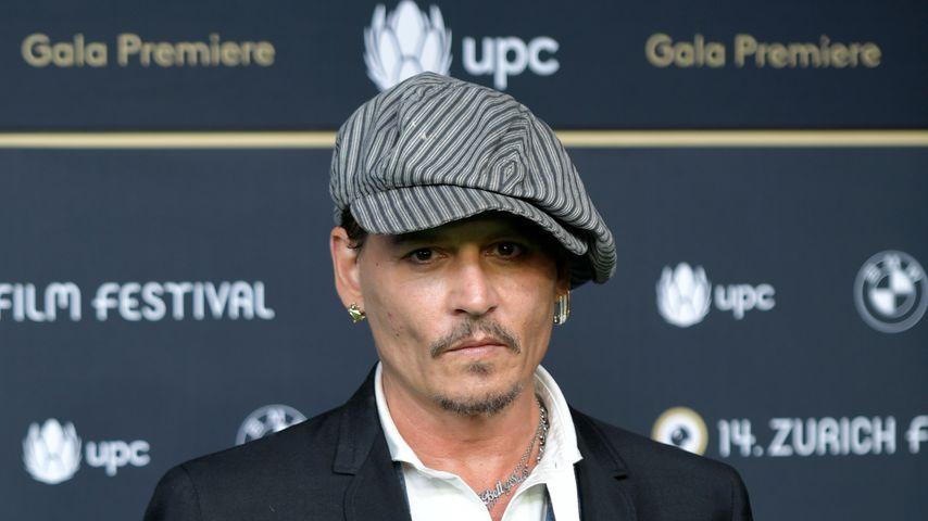 Schauspieler Johnny Depp bei einer Premiere in Zürich