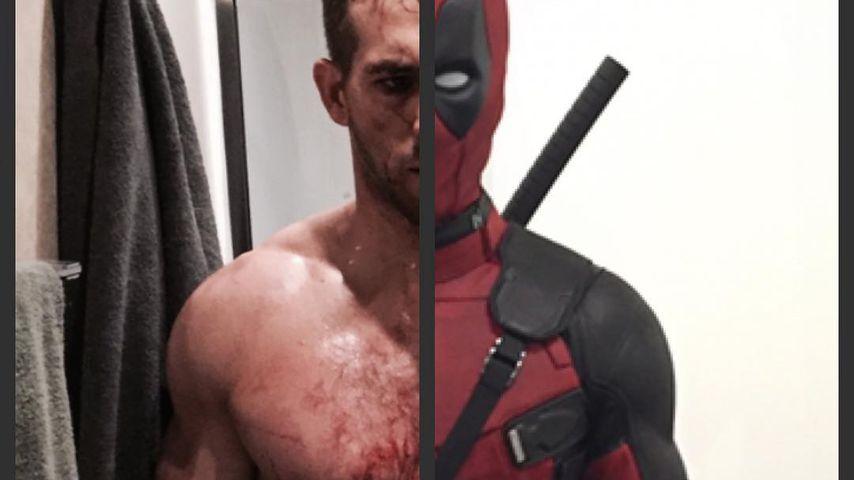 "Ryan Reynolds im ""Deadpool""-Kostüm"
