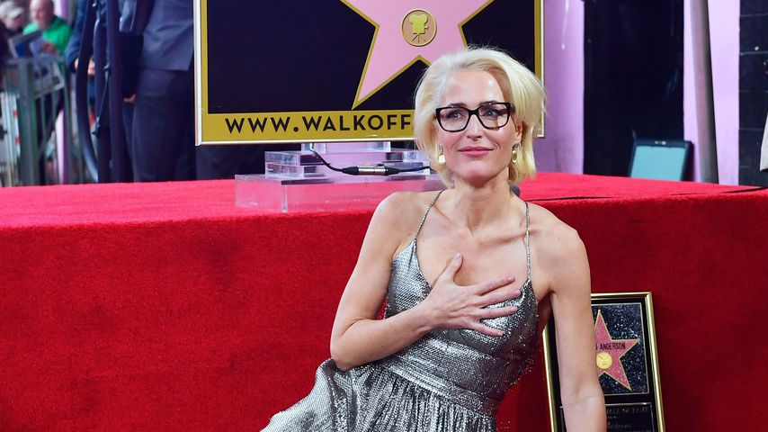 Schauspielerin Gillian Anderson auf dem Hollywood Walk of Fame