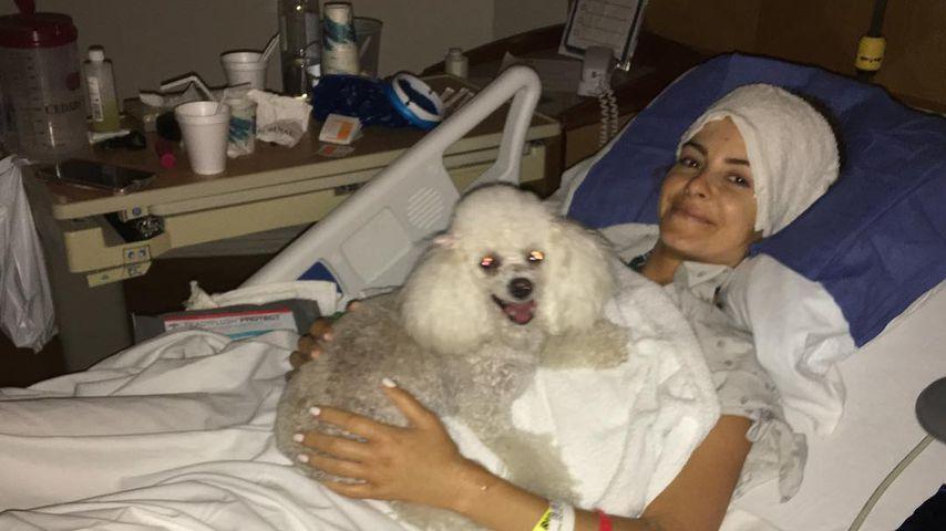 Maria Menounos im Krankenhausbett nach einer Op