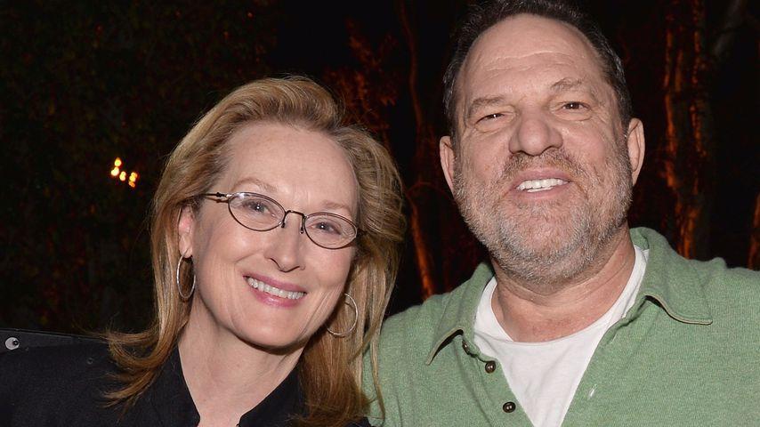 Schauspielerin Meryl Streep und Produzent Harvey Weinstein