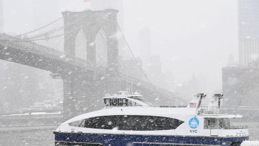 Scheesturm Toby in new York im März 2018