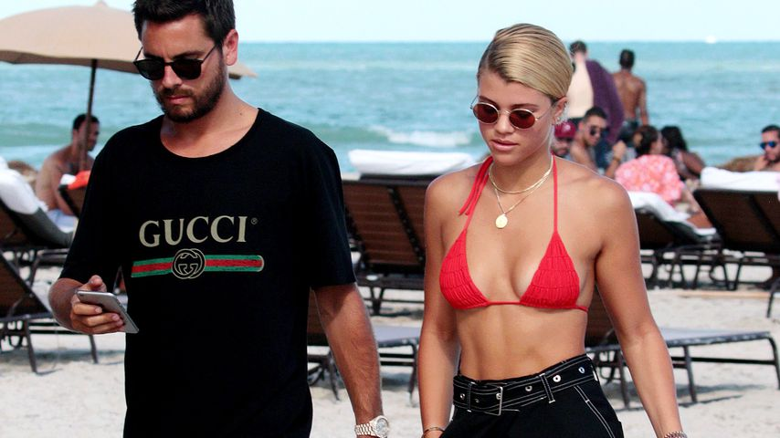 Scott Disick und Sofia Richie am Strand in Miami