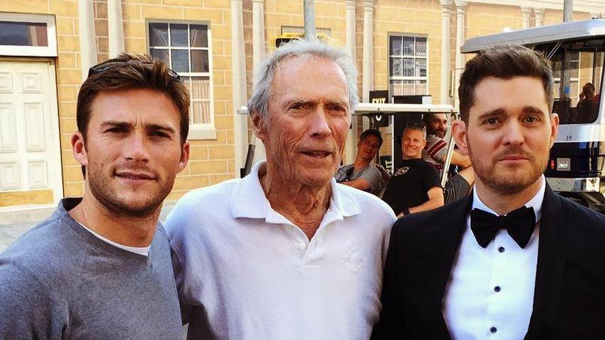 Scott Eastwood mit Vater Clint und Michael Bublé in LA