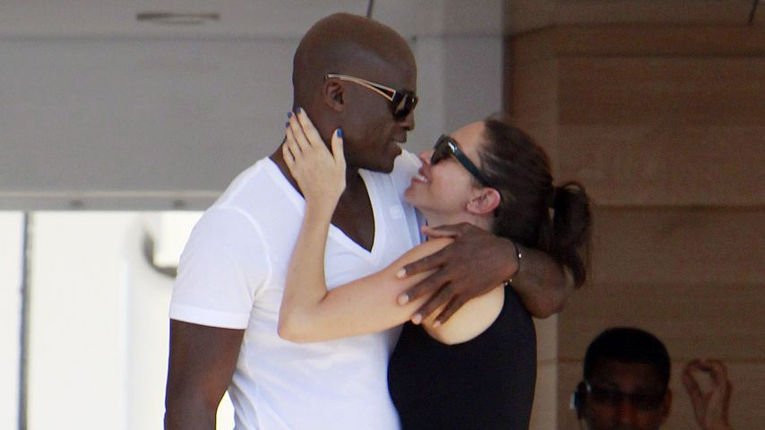So verliebt! Hier knutscht Seal seine Freundin Erica