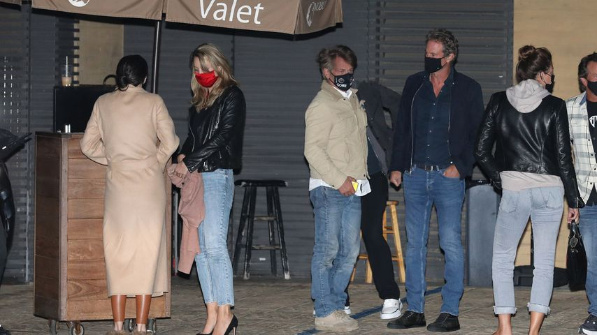 Sean Penn, seine Frau Leila George und Rande Gerber in Malibu im April 2021