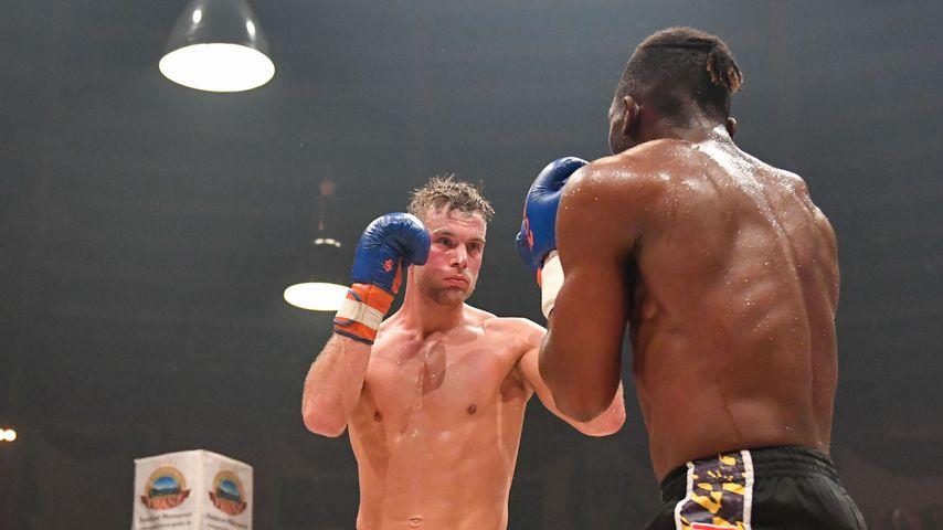 Sebastian Preuss bei einem Boxkampf im Juni 2019