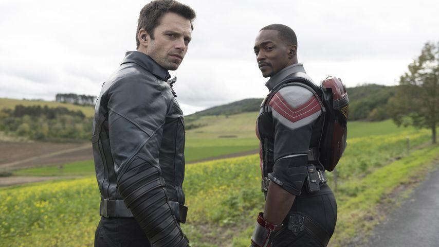 Sebastian Stan als Winter Soldier und Anthony Mackie als Falcon