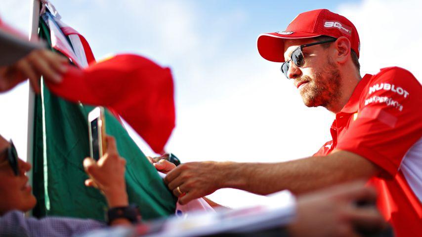 Sebastian Vettel erstmals mit einem Ehering im Juni 2019