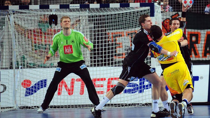 Johannes Bitter, Sebastien Preiss, Jens Tiedtke und Vanco Dimovschi bei einem Spiel in Kroatien