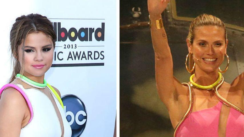 Wem steht's besser: Heidi Klum oder Selena Gomez?