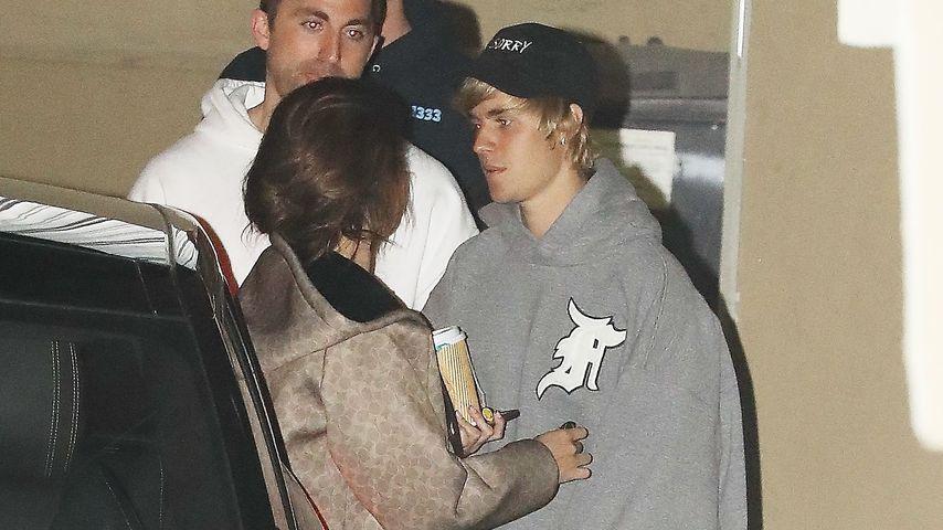 Selena Gomez und Justin Bieber bei einem gemeinsamen Kirchenbesuch, Februar 2018
