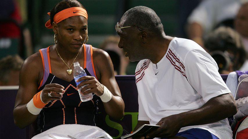 Serena Williams und ihr Vater und Coach Richard