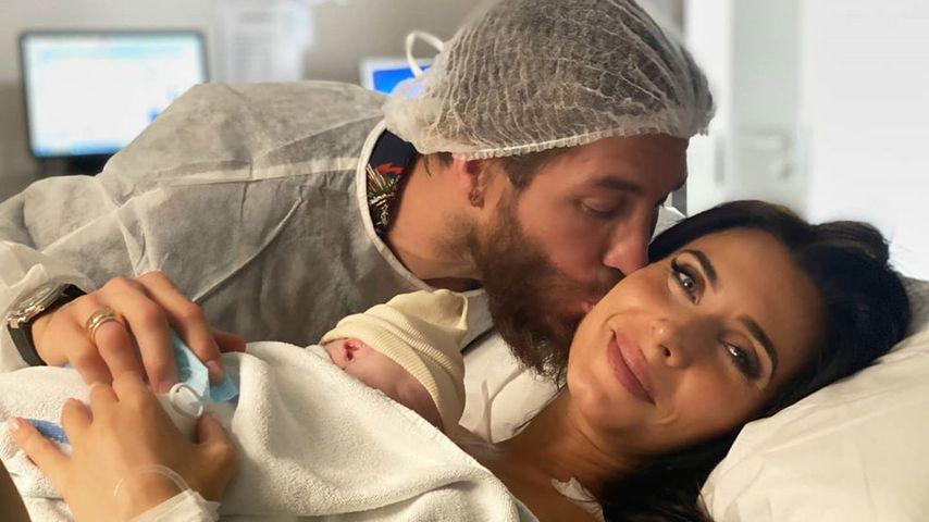 Sergio Ramos mit seiner Frau Pilar und ihrem Sohn, Juli 2020