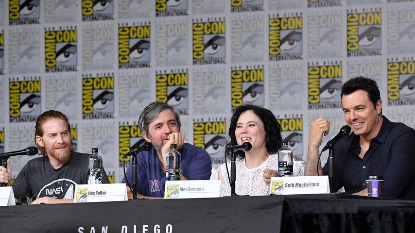 Seth Green, Alec Sulkin, Alex Borstein und Seth MacFarlane bei der Comic-Con 2018