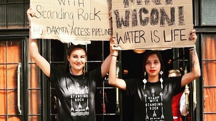Schauspielerin Shailene Woodley beim Protest gegen die Dakota Access Pipeline