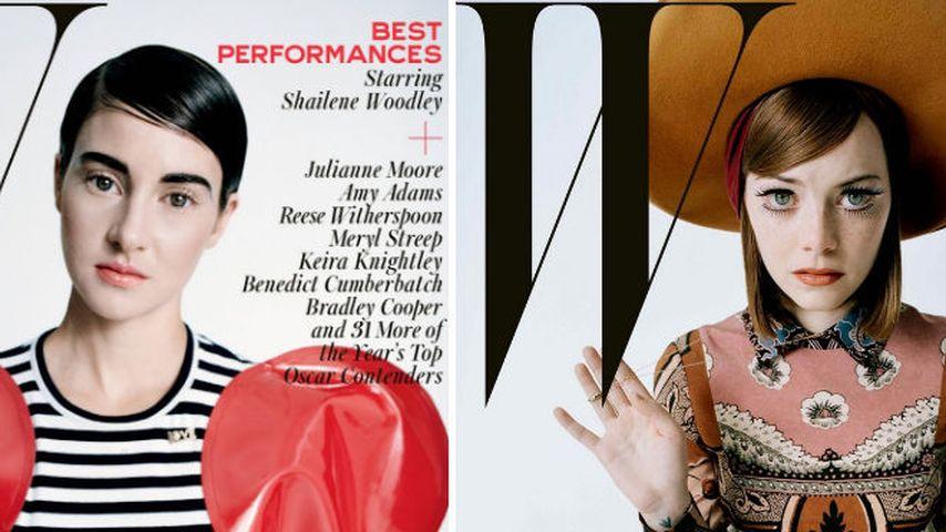 Shailene Woodley & Emma Stone ganz verwandelt!