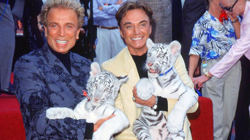 Siegfried und Roy auf dem Walk of Fame, 1999