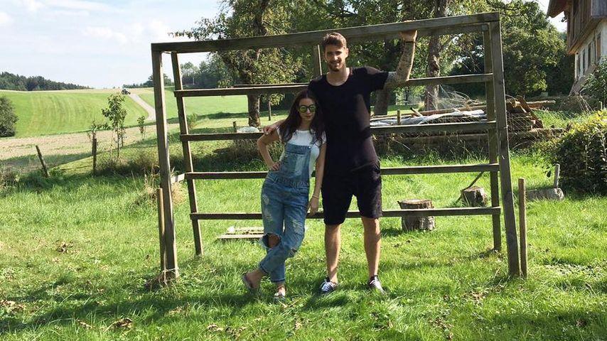 Sila Sahin mit Samuel Radlinger in Österreich