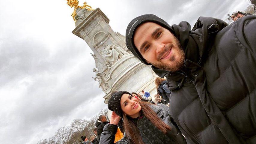 Sila Sahin mit ihrem Mann Samuel, Februar 2020