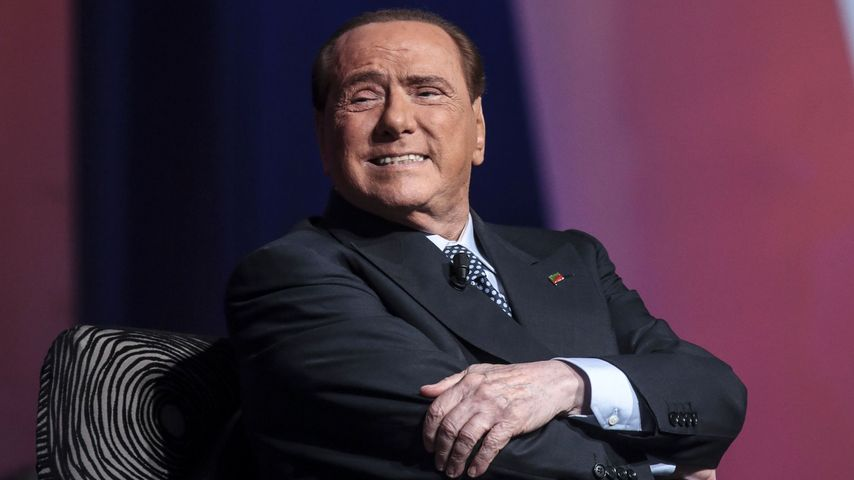 "Silvio Berlusconi in der TV-Show ""Virus"" in Rom"