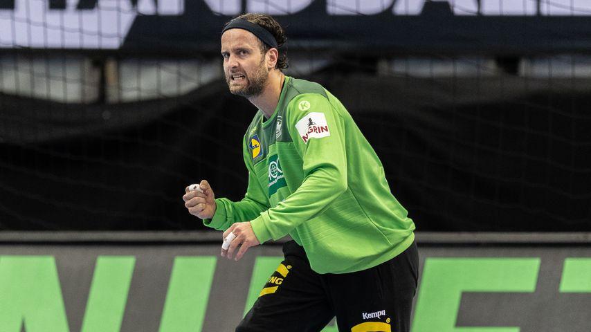 Silvio Heinevetter bei der Handball-Weltmeisterschaft in Berlin im Januar 2019